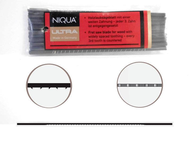 Laubs/ägebl/ätter NIQUA SPEED Holzlaubs/ägebl/ätter Nr 3 Abmessung 0,34 mm x 0,90 mm Gros